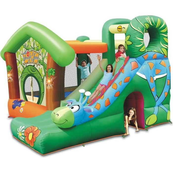 Happy hop ch teau aire de jeux gonflable jungle fun - Jacuzzi gonflable pas cher promotion ...