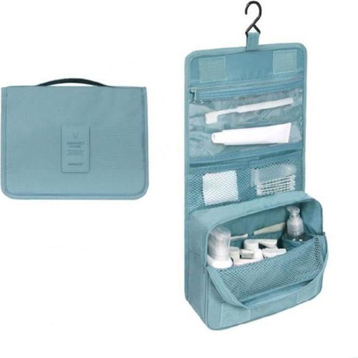 Bleu BAGSMART Trousse de Toilette /à Suspendre Femme Sac Rangement Cosm/étique Trousse de Voyage Vanity Femme