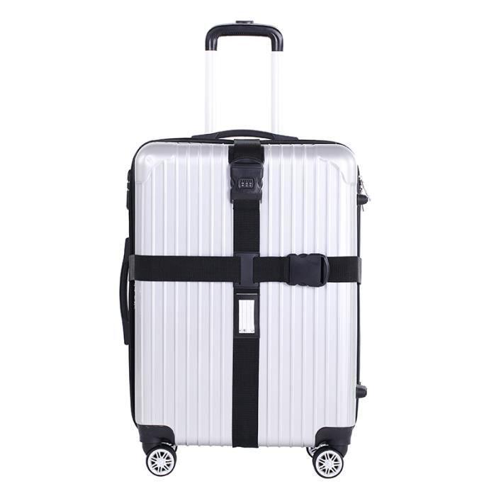 2 x Valise Bagage Serrure Ceinture Sangle de voyage bagages cravate réglable double pack uk
