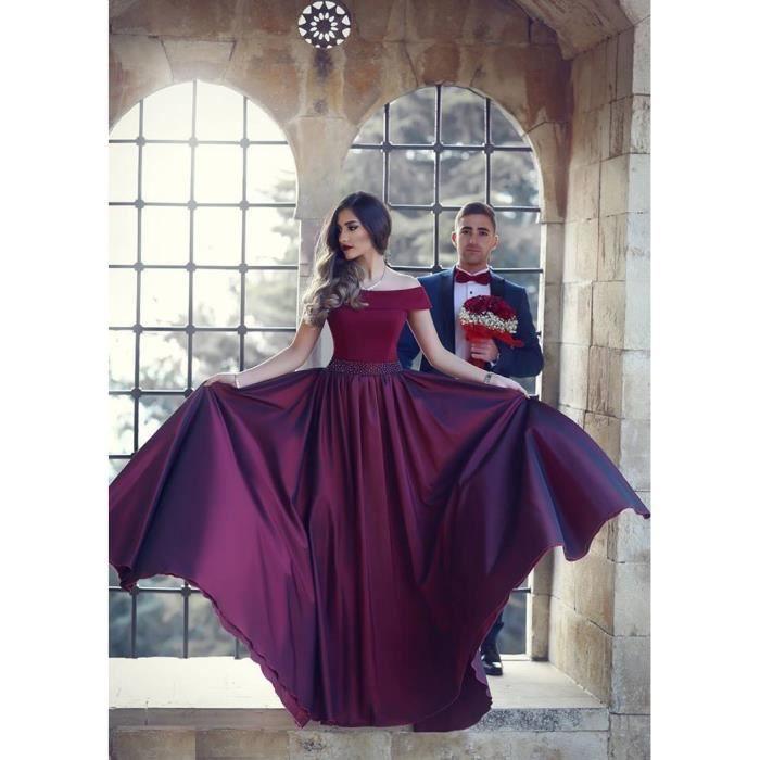 Robe Longue de Cérémonie Mariage Grande Jupe