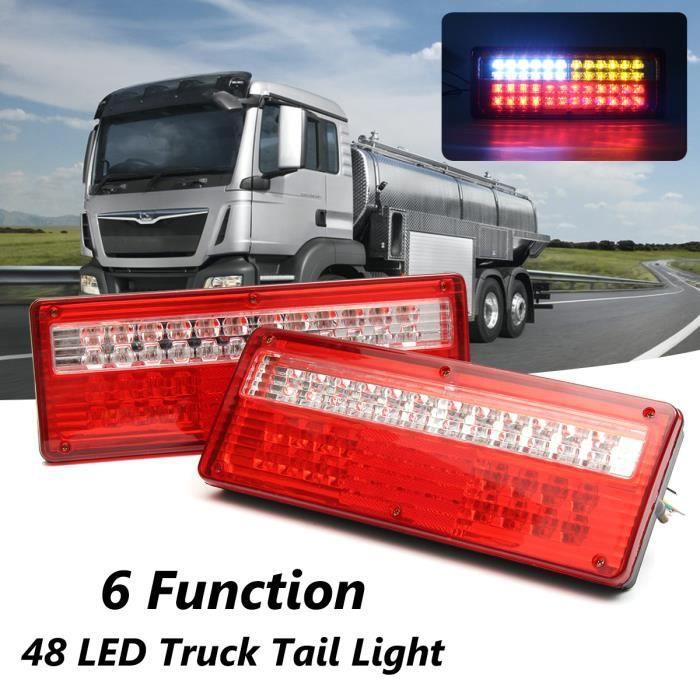 2x 12V LED Feux Arrière Indicateur Lampe Queue Arrêt  Remorque Caravane Camion