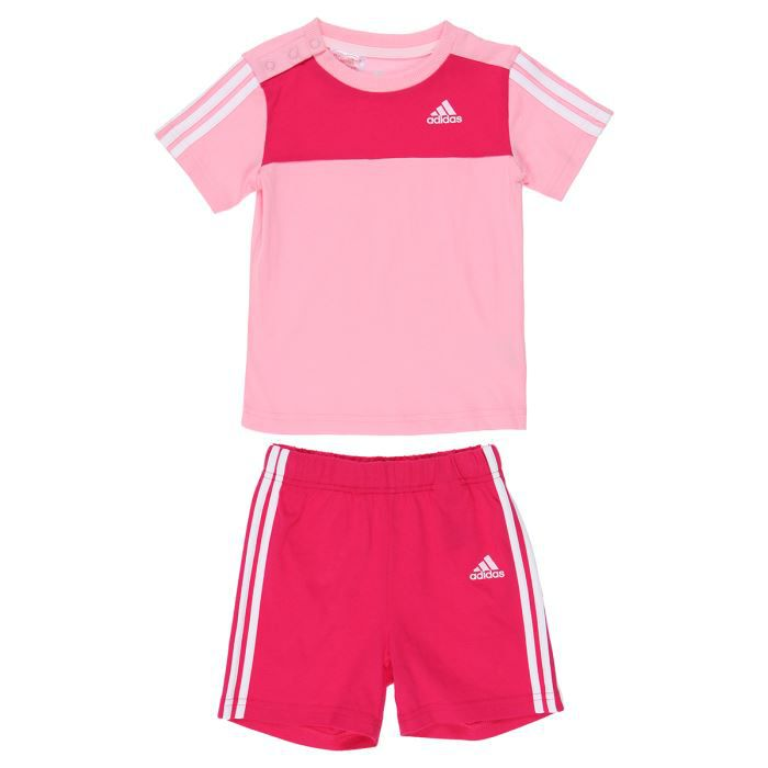 adidas ensemble t shirt short b b fille achat vente ensemble tenue de sport les soldes. Black Bedroom Furniture Sets. Home Design Ideas