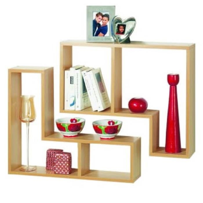 Twin tag re murale lot de 2 finition hetre achat vente meuble tag - Etagere murale cdiscount ...