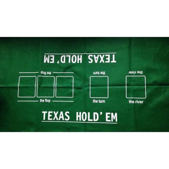 Tapis de poker en tissu 60 x 90 cm Texas holdem 100/% polyester