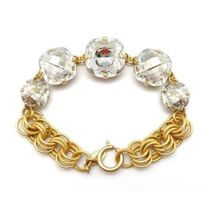 Womens Graduated Shade Swarovski Crystal Gold Plated Bracelet Adjustable NXSPE