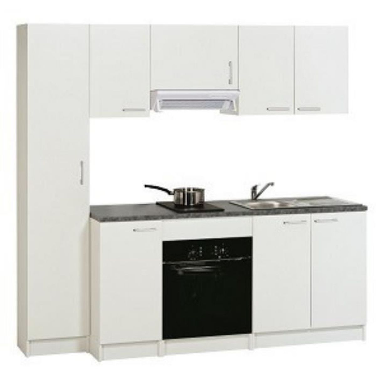 Meuble de cuisine bas 1 porte mod le first blanc h86 x for Porte element de cuisine