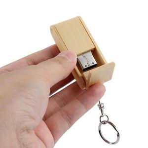 CLÉ USB Vente chaude en bois USB 2,0 2 GB Flash Drive PEN