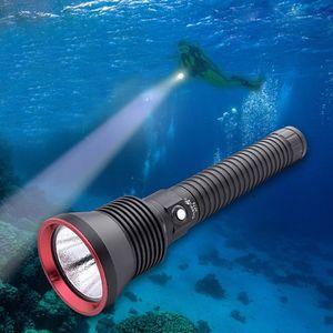 LAMPE DE POCHE Professional Scuba Diving Flashlight Underwater Li
