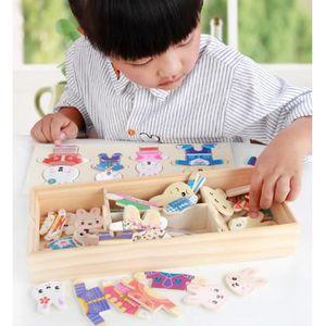 PUZZLE 72 Pcs Wooden Rabbit Puzzle Bois Enfant, Jouet en