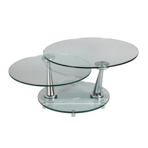 Table Basse En Verre Pivotante Achat Vente Table Basse