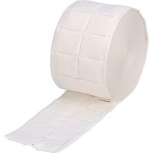 Tampons En Coton Biologique jetable Adapt/é pour le D/émaquillage 1000pcs Tampons D/émaquillants Nettoyage des Ongles Carr/é Cellulose en Coton