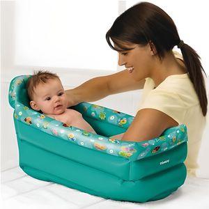 BAIGNOIRE  Baignoire gonflable de voyage bebe 0-6 mois - Tomy