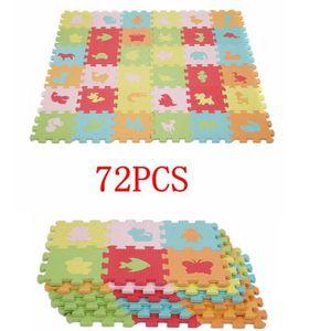 TAPIS PUZZLE KEKE-72 Pièces Tapis de Puzzle pour Enfant Jeu édu
