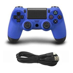 MANETTE JEUX VIDÉO Manette de jeu pour manette filaire PS4; blue