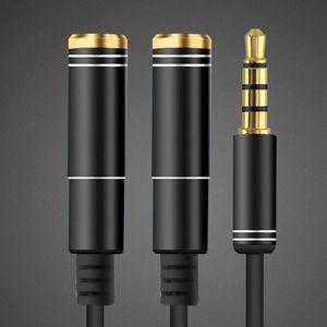 CÂBLE TV - VIDÉO - SON Adaptateur 3.5mm Mini-Jack Câble Diviseur 1 Mâle à