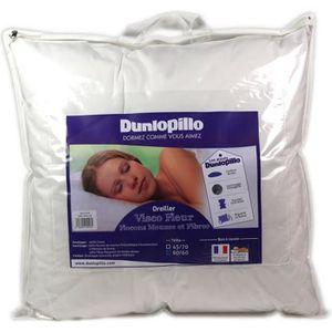 OREILLER Dunlopillo Visco Fleur Oreiller Blanc 60 x 60 cm