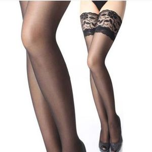 Dentelle blanche Top cuisse haute Hold Up Stockings
