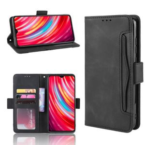 HOUSSE - ÉTUI Etui Xiaomi Redmi Note 8 Pro Portefeuille Noir Coq