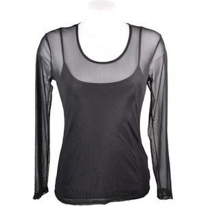T-SHIRT T-shirt, sous pull femme en voile transparente