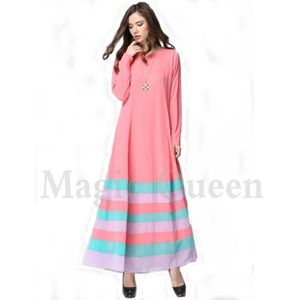 ROBE robe femme musulmane encolure ras-du-cou manches l