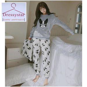 PYJAMA Dressystar Automne Hiver Femmes Pyjamas Ensembles