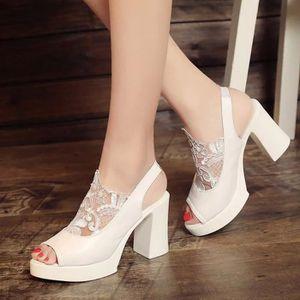 HLONGG Mesdames Dentelle Pompes Chaussures De Mariage De Satin Femme,Bleu,US5.5//EU36//UK3.5 Strass Pompes Femmes Chaussures De Mari/ée