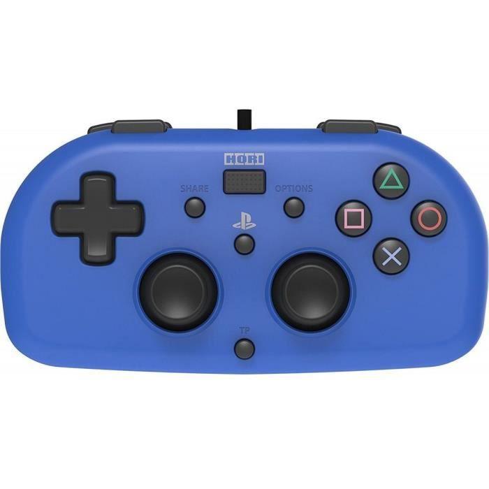MANETTE JEUX VIDÉO Hori Mini Manette Filaire Bleue Pour PS4 - Licence