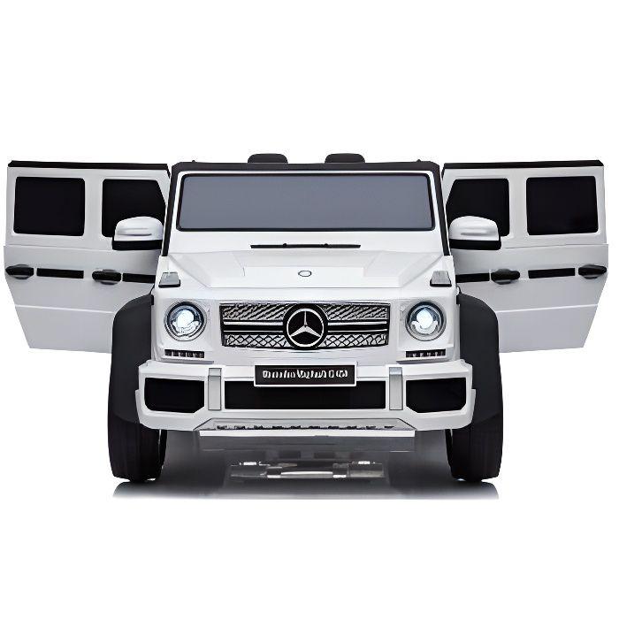 Mercedes Mayback G650 Blanc - Voiture électrique pour enfant avec batterie 12v et télécommande