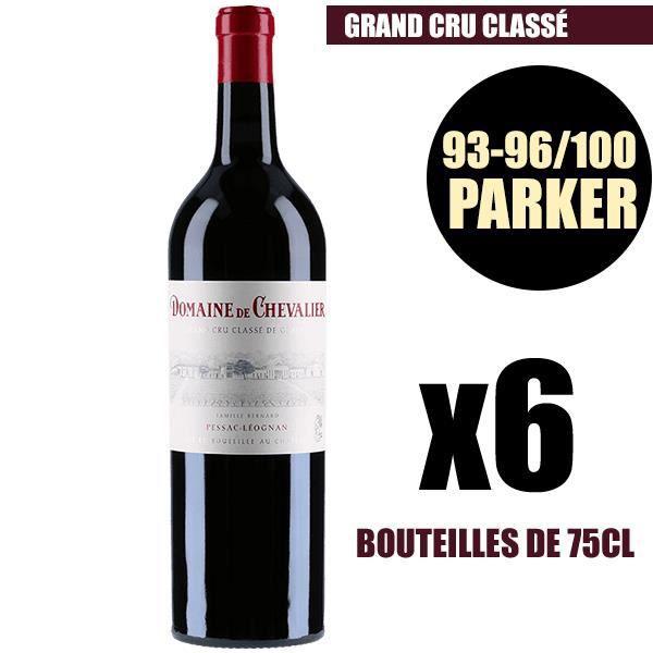 X6 Domaine de Chevalier 2016 75 cl AOC Pessac-Léognan Rouge Grand Cru Classé Vin Rouge