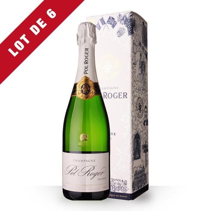 6x Pol Roger Brut Réserve - Etui Festif - 6x75cl - Champagne