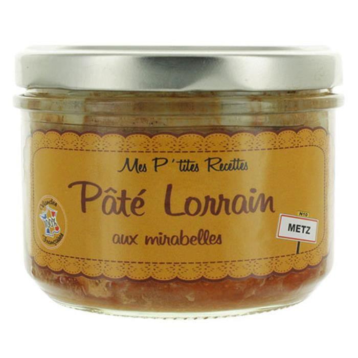 Pâté Lorrain aux mirabelles - Fabriqué en France - Mes P'tites Recettes - pot 220g