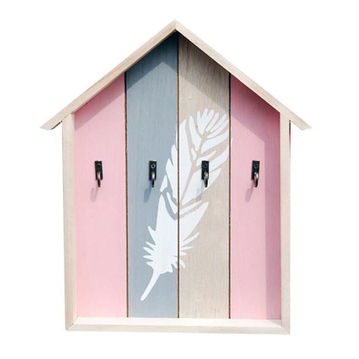 1 pc porte-clés mural en bois Vintage mode support de stockage étui à clés pour salon mur PIECE DETACHEE SECURITE MAISON