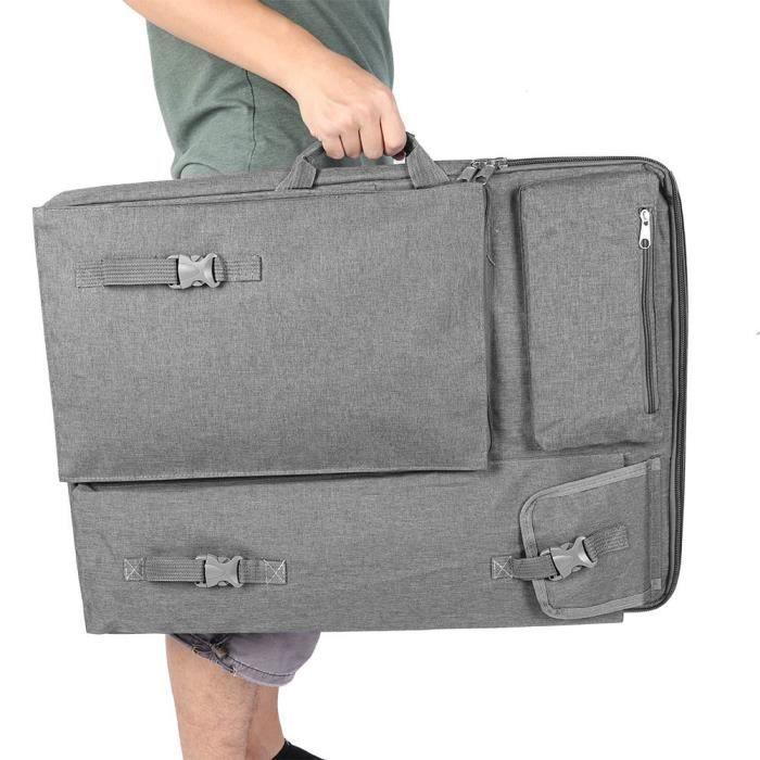 Cikonielf Sac d'art Grande planche à dessin imperméable multifonction 4K Sac de transport Sac de fournitures artistiques