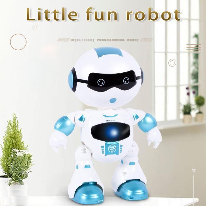 Robot intelligent télécommandé - Robot jouet parlant marchant avec fonction de détection Miaienu 55