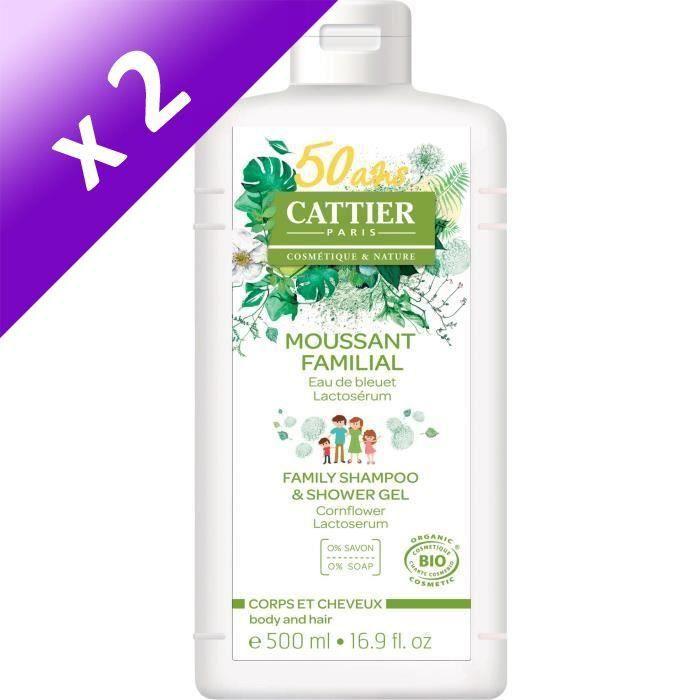 CATTIER Moussant Familial au Lactoserum - Bio - 500 ml (Lot de 2)