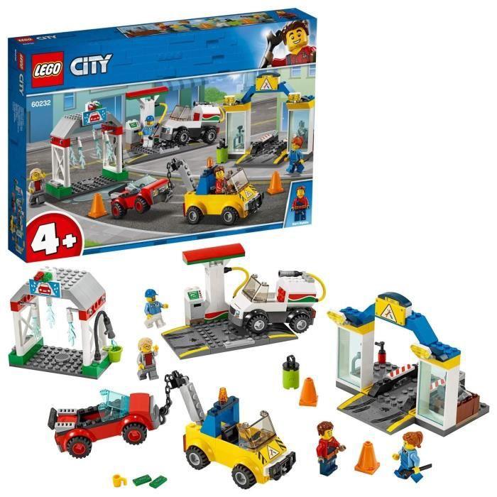 LEGO City - Le garage central, Enfant de 4 Ans et Plus, Jouet de Construction 234 Pièces - 60232