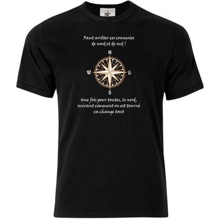 T-shirt col rond Citation Kaamelott Perceval Nord et Sud 2 bleu l