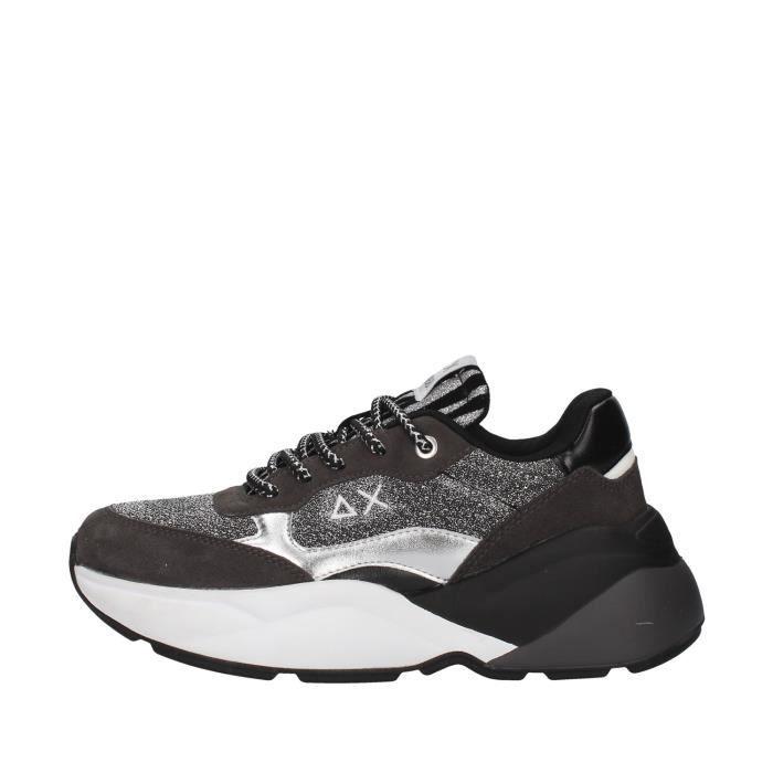 Sun68 Z40232 chaussures de tennis faible Femme GRIS