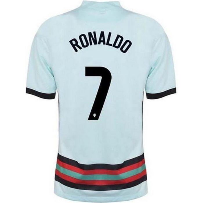 Nouveau Maillot Officiel de Football Enfant Nike Portugal Extérieur Euro 2020 Flocage Officiel Numéro 7 Ronaldo
