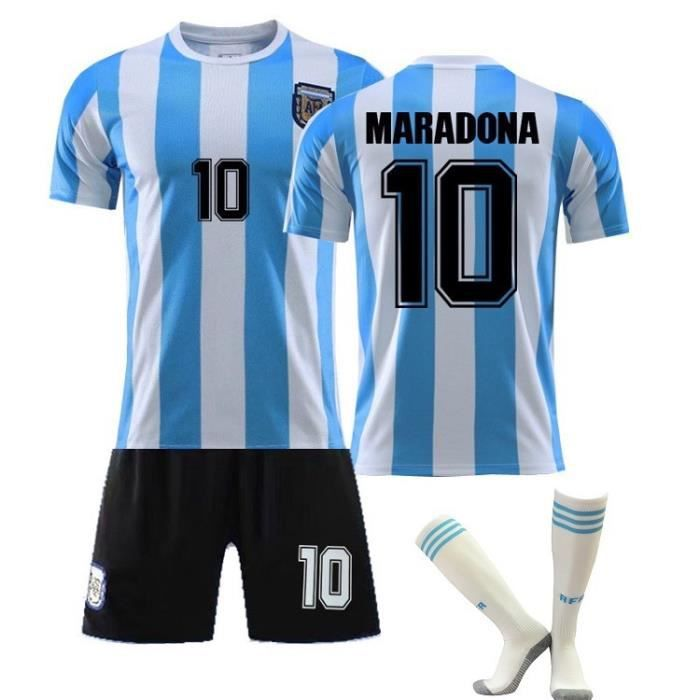 Multicolore 18 Vintage Jersey Argentina 10 Maradona Jersey Souvenir Football Jersey Argentina Jersey 10 Messi