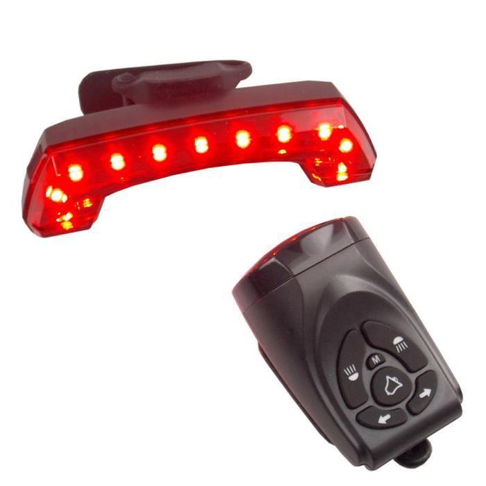 Vélo Feu arrière Feu arrière vélo frein USB Cycle Témoin de contrôle à distance d'avertissement lampe à induction