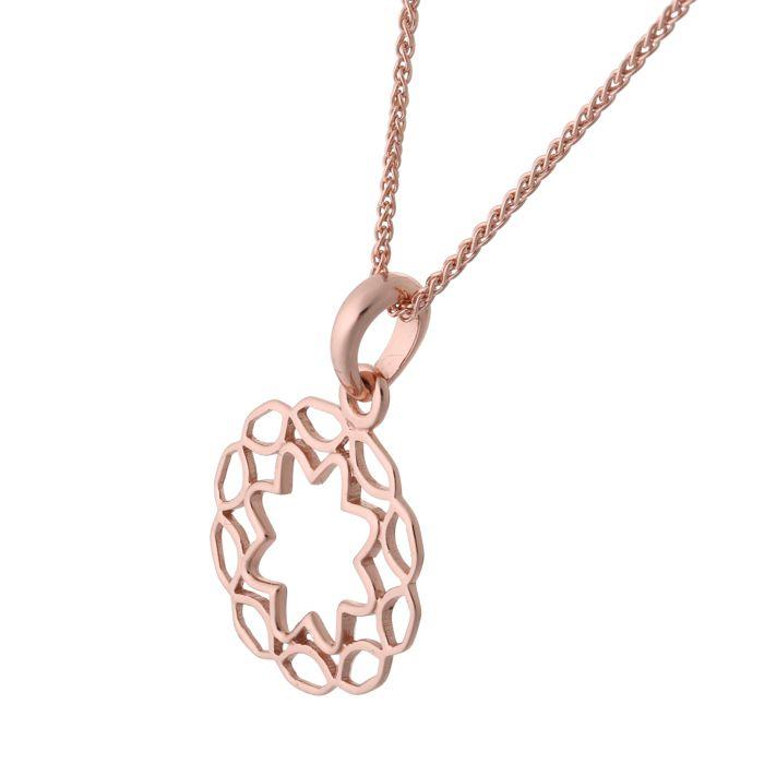 ORPHELIA-Collier avec pendentif pour Femmes en Argent sterling 925 Rosegold-ZH-7076-1