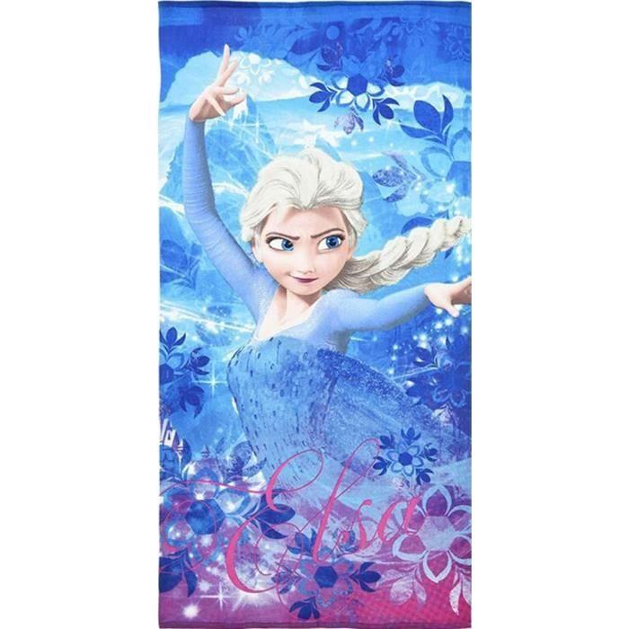 Serviette de bain Disney Frozen 'La reine des neiges' - Elsa - 70 x 140 cm