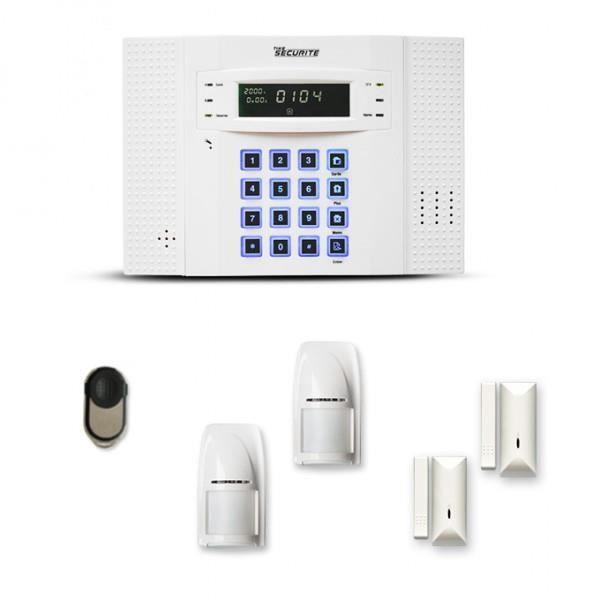 Alarme maison sans fil DNB 1 à 2 pièces mouvement + intrusion - Compatible Box internet