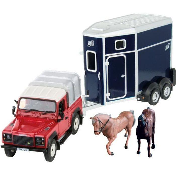 TOMY Coffret Land Rover et ses chevaux