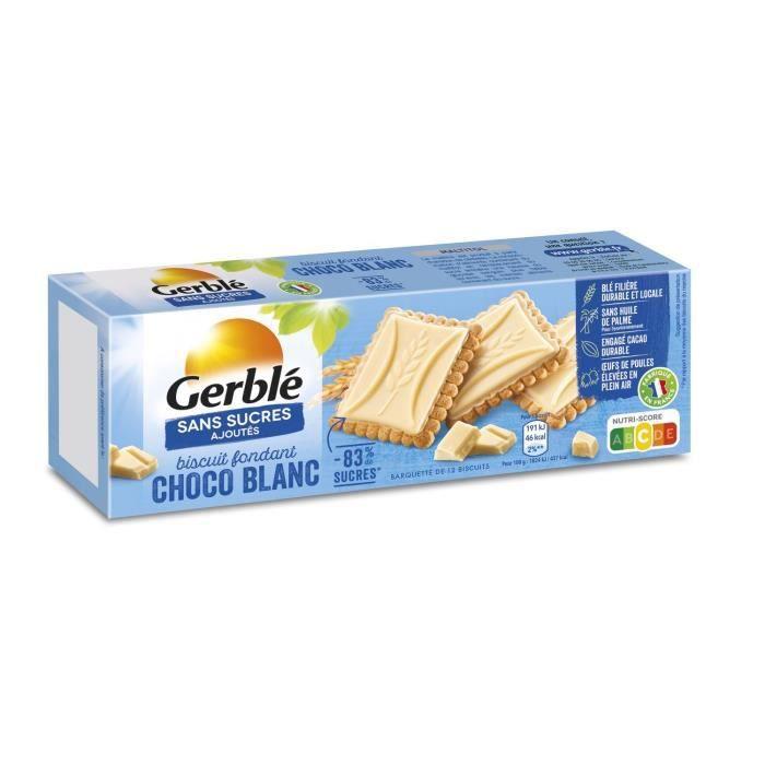 GERBLE Biscuits et tablettes de chocolat blanc - 126 g