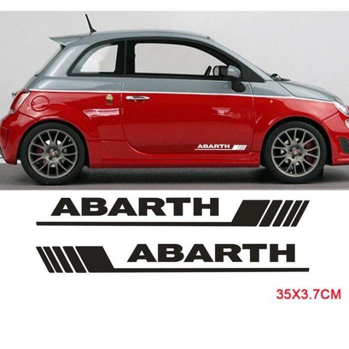Fiat 500 porte carte graphique set autocollants rayures de voiture autocollants
