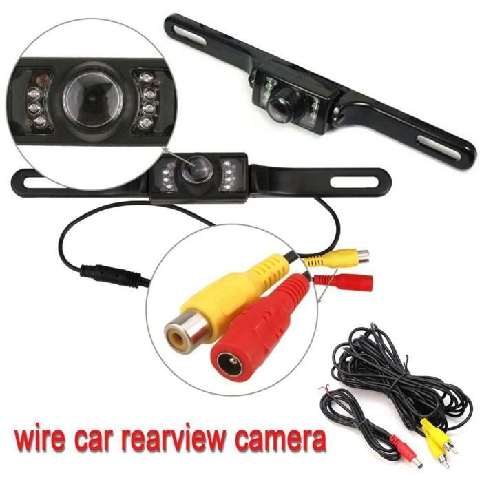 Wired Vehicle License Plate Vue arrière Night Vision inverse Parking voiture