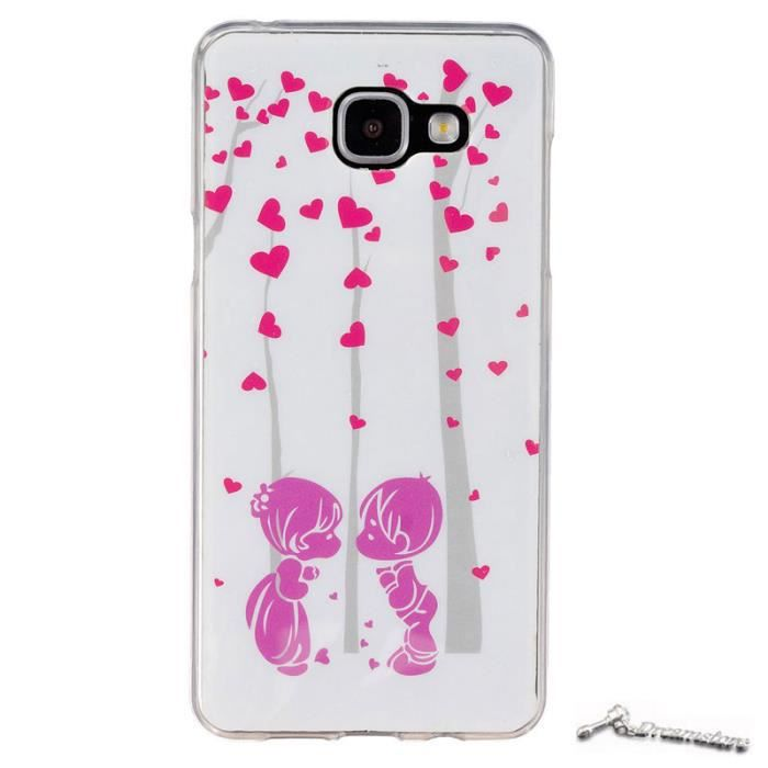 couple coeur coque samsung galaxy a5 2016 a510 5 2 etui housse gel silicone protection. Black Bedroom Furniture Sets. Home Design Ideas