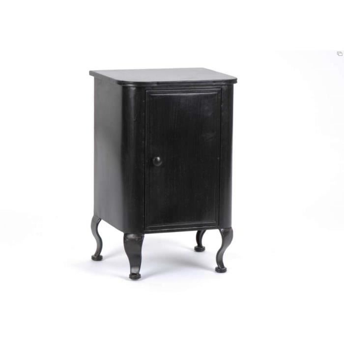 table de chevet baroque en m tal noir amadeus achat vente chevet table de chevet baroque. Black Bedroom Furniture Sets. Home Design Ideas